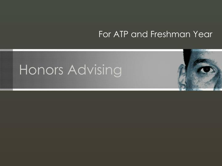 Honors Advising
