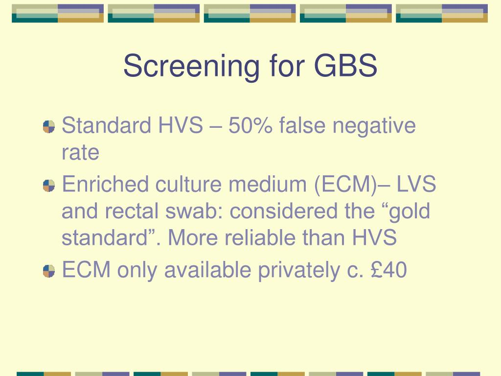 Screening for GBS