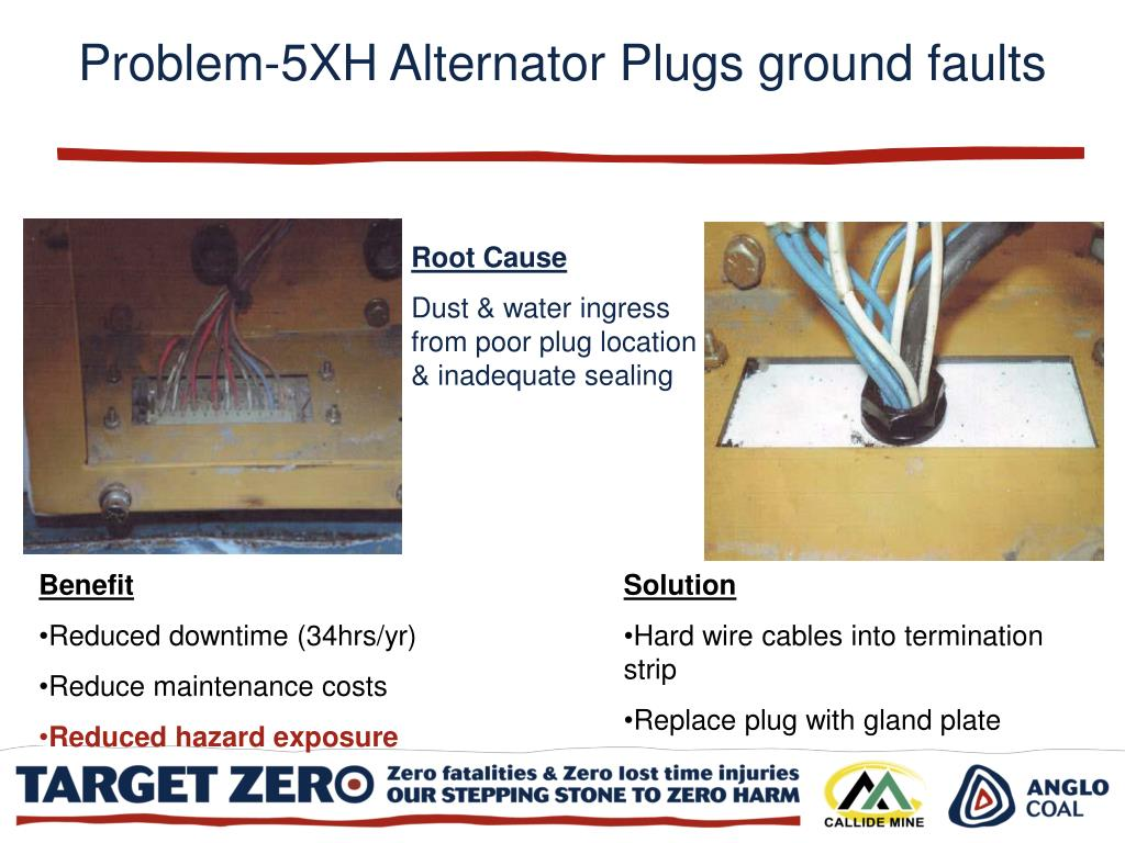 Problem-5XH Alternator Plugs ground faults