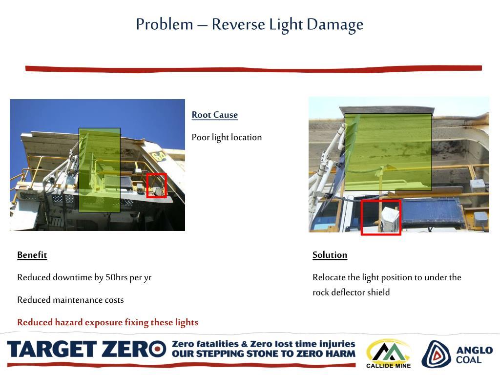 Problem – Reverse Light Damage