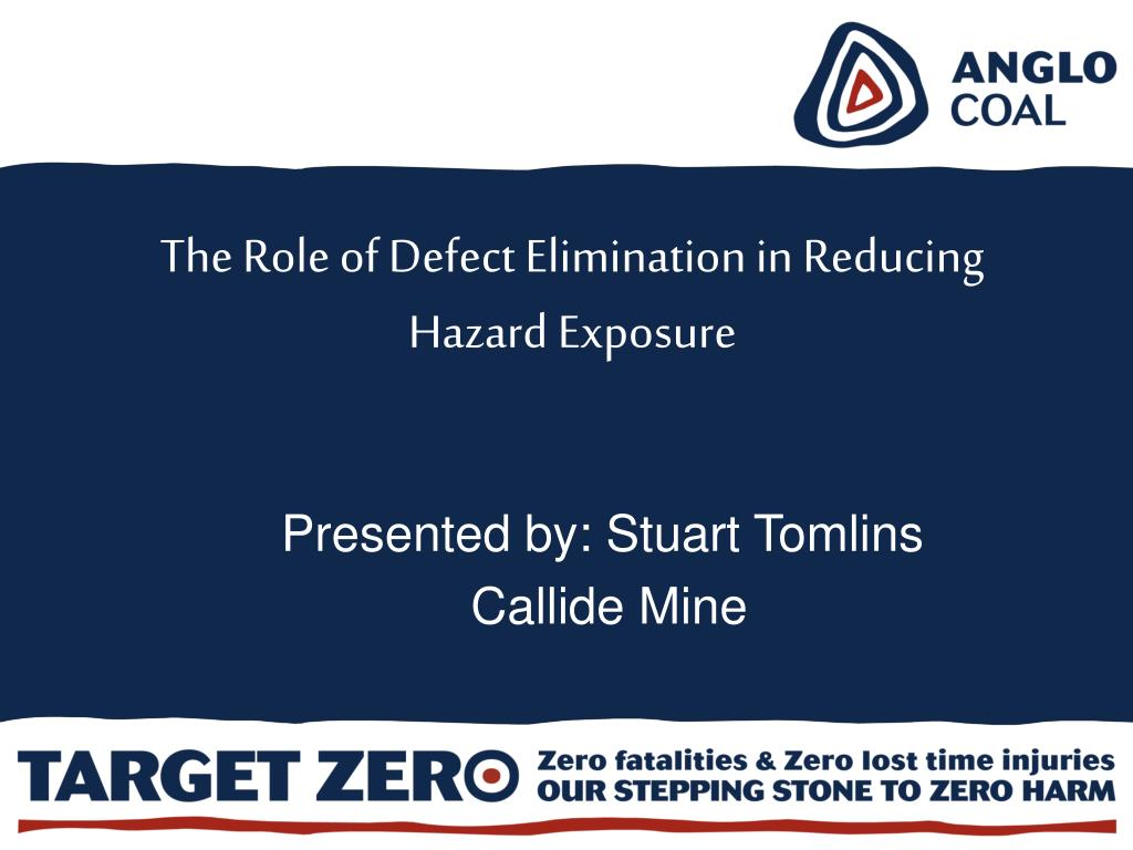 The Role of Defect Elimination in Reducing Hazard Exposure