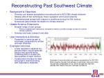 reconstructing past southwest climate