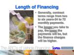 length of financing