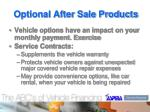 optional after sale products