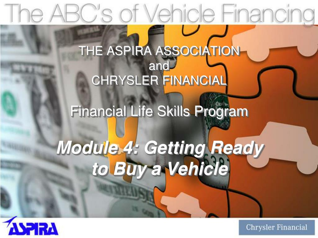 the aspira association and chrysler financial financial life skills program l.