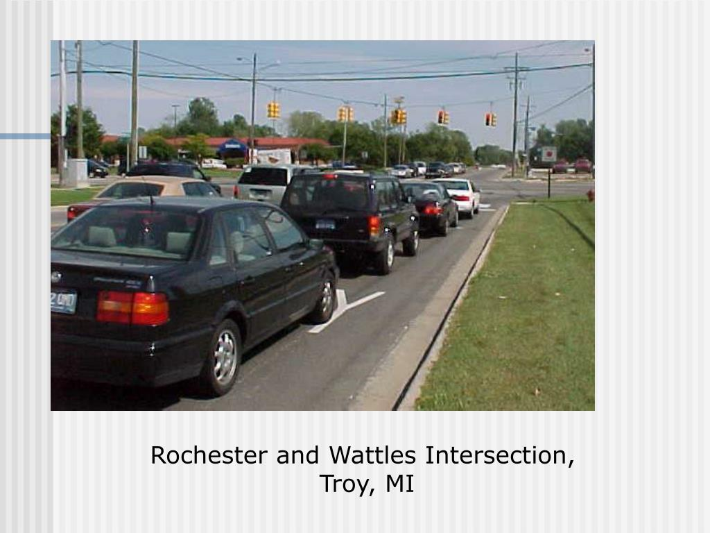 Rochester and Wattles Intersection,