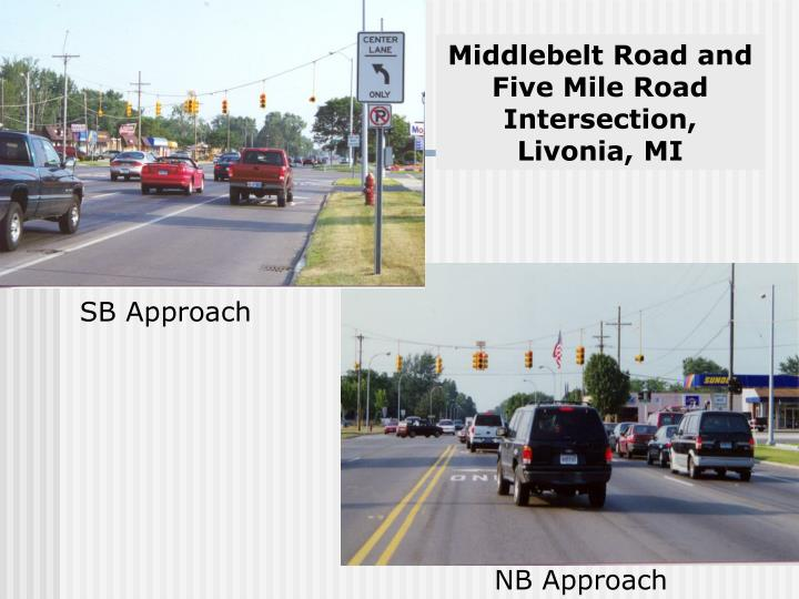 Middlebelt Road and Five Mile Road Intersection,