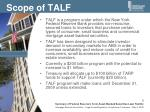 scope of talf