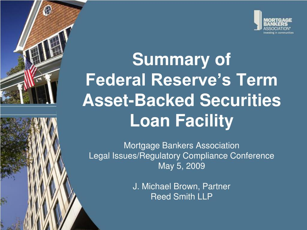 summary of federal reserve s term asset backed securities loan facility l.
