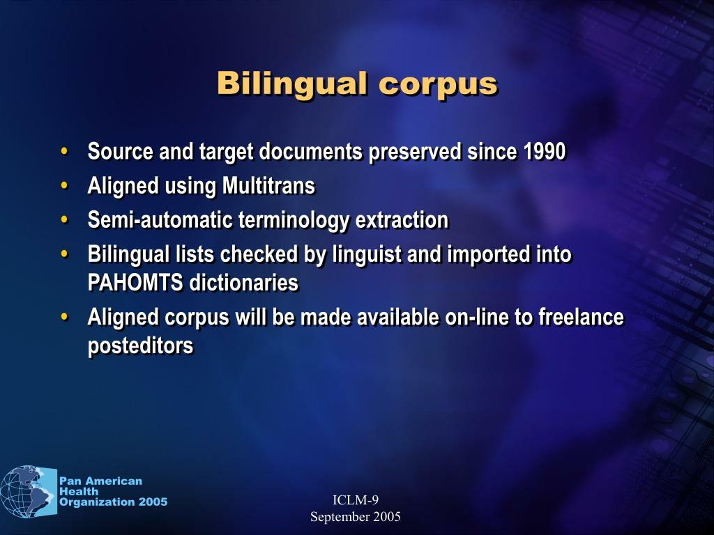 Bilingual corpus