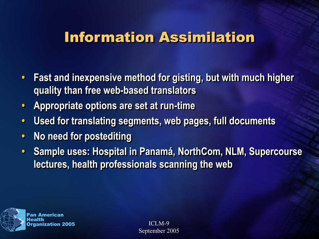 Information Assimilation