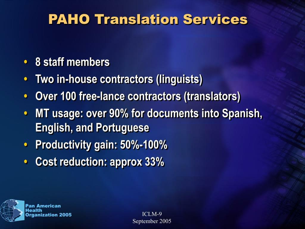 PAHO Translation Services