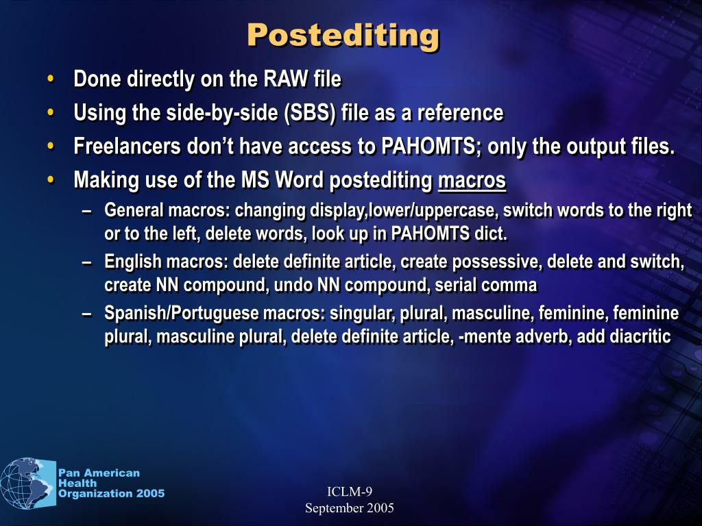 Postediting