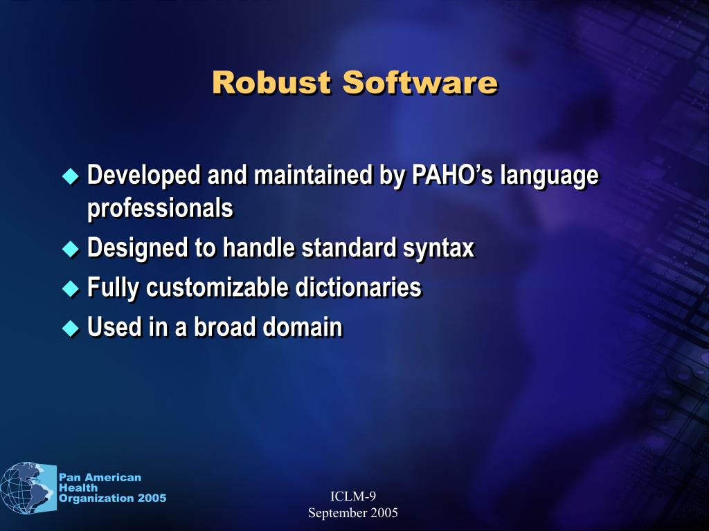 Robust Software