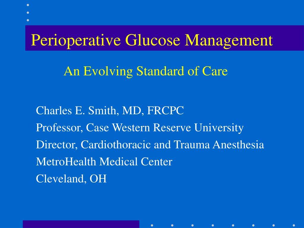 perioperative glucose management l.