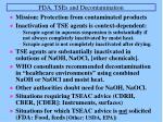 fda tses and decontamination