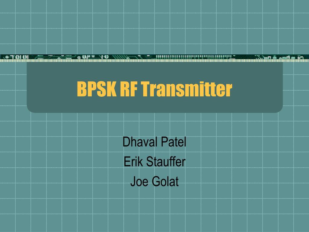 bpsk rf transmitter