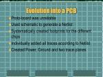 evolution into a pcb