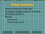 fm radio modulation