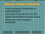 objective software transmitter