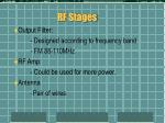 rf stages