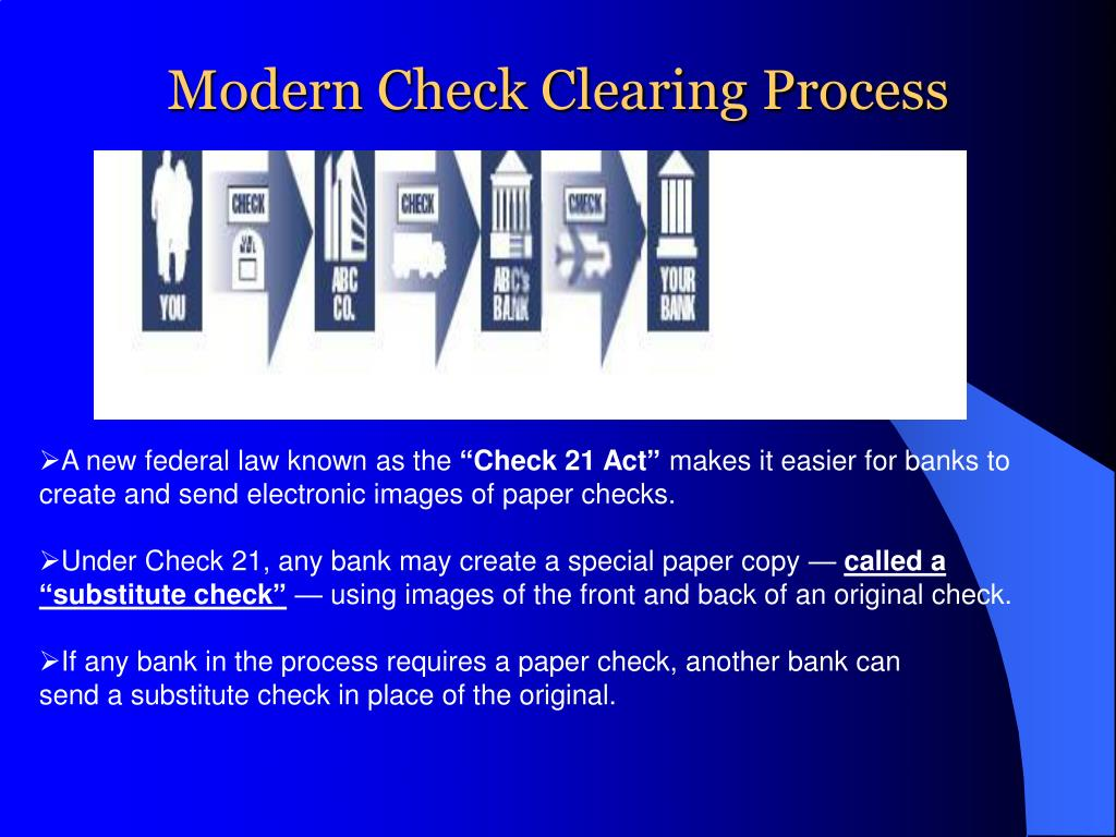 Modern Check Clearing Process
