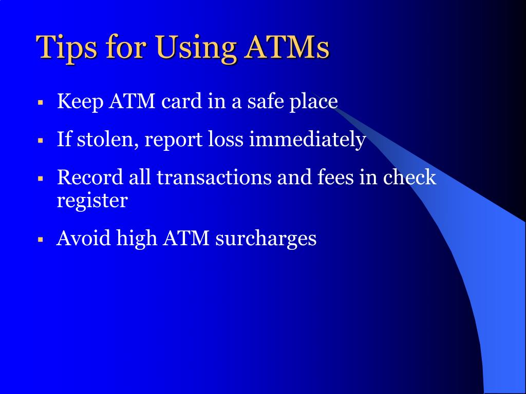 Tips for Using ATMs