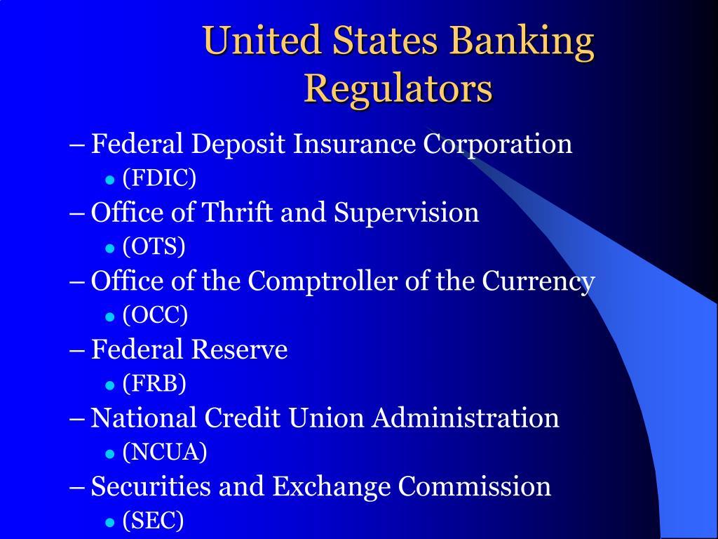United States Banking Regulators