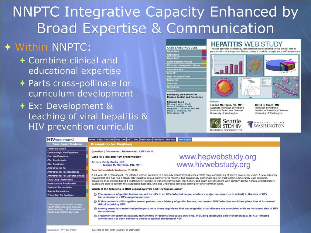 NNPTC Integrative Capacity Enhanced by