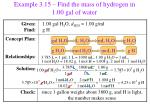 example 3 15 find the mass of hydrogen in 1 00 gal of water