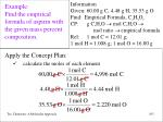 example find the empirical formula of aspirin with the given mass percent composition102