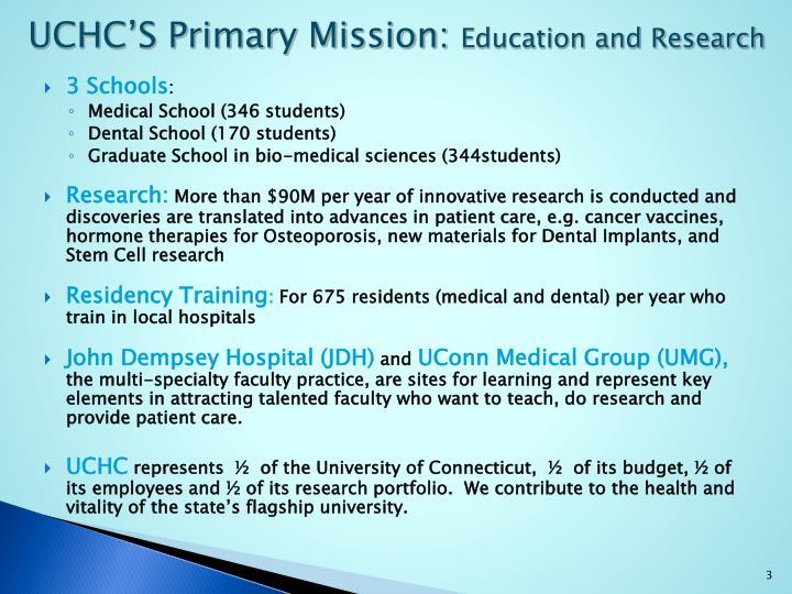 UCHC'S Primary
