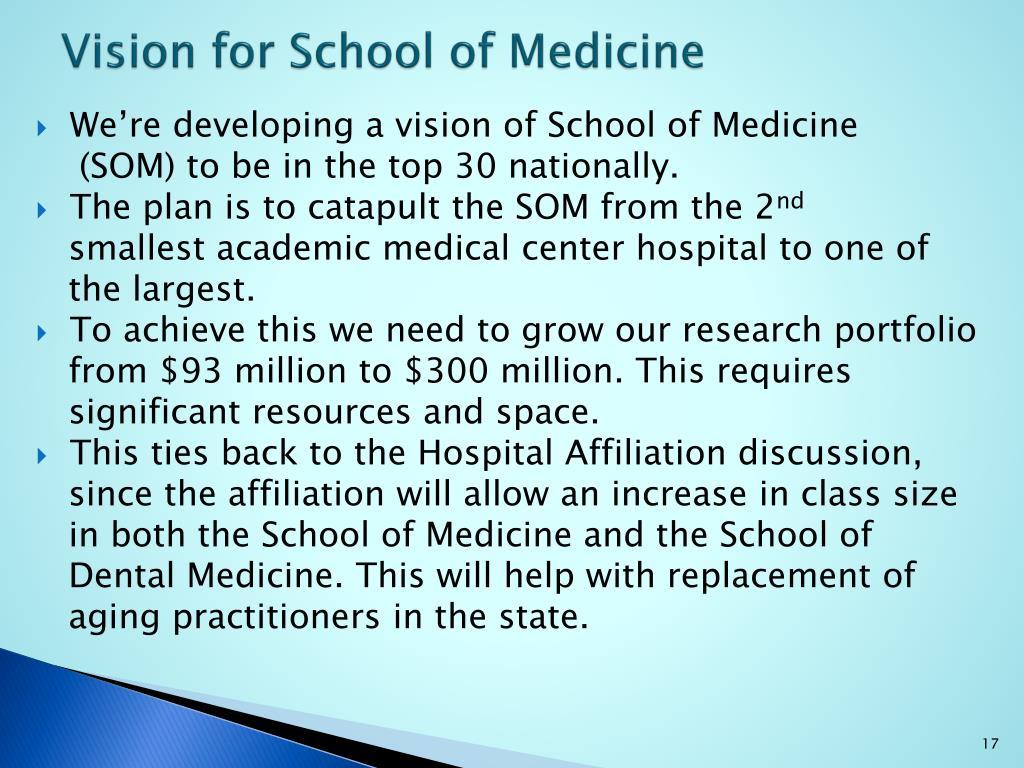 Vision for School of Medicine