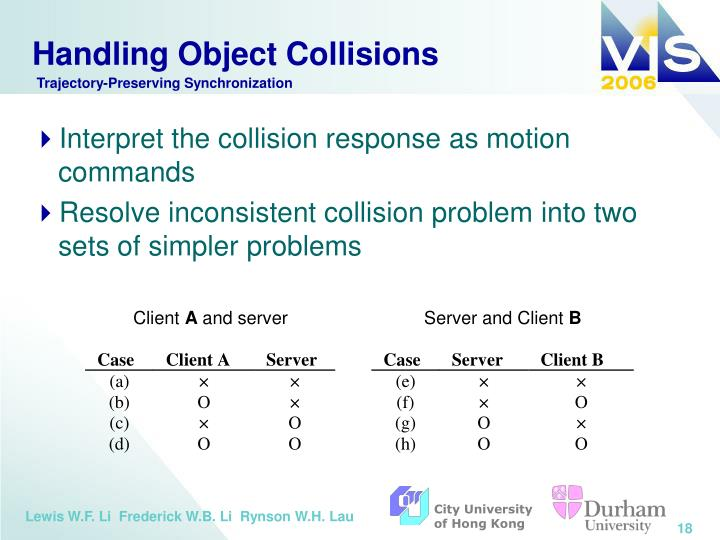 Handling Object Collisions