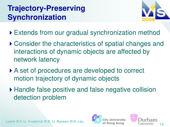 Trajectory-Preserving Synchronization