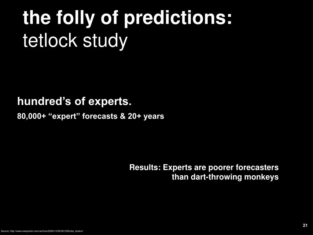 the folly of predictions: