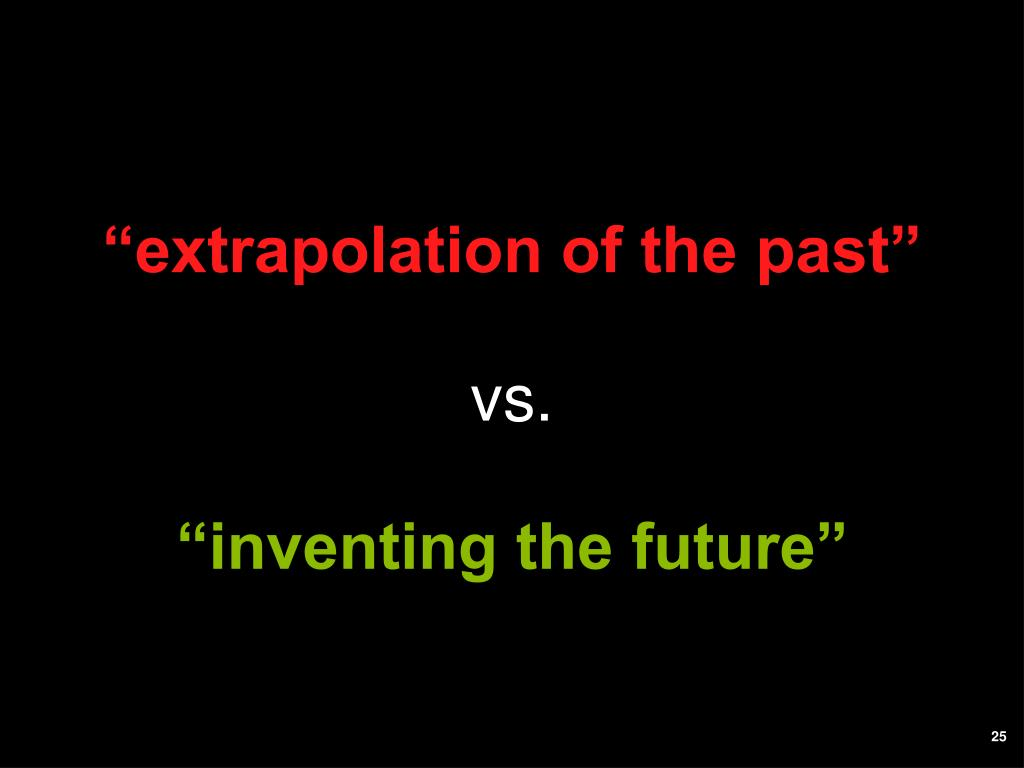 """extrapolation of the past"""