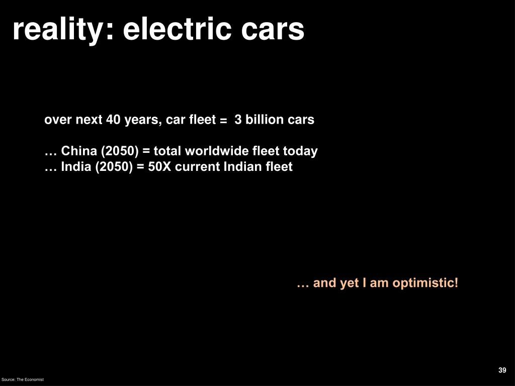 reality: electric cars