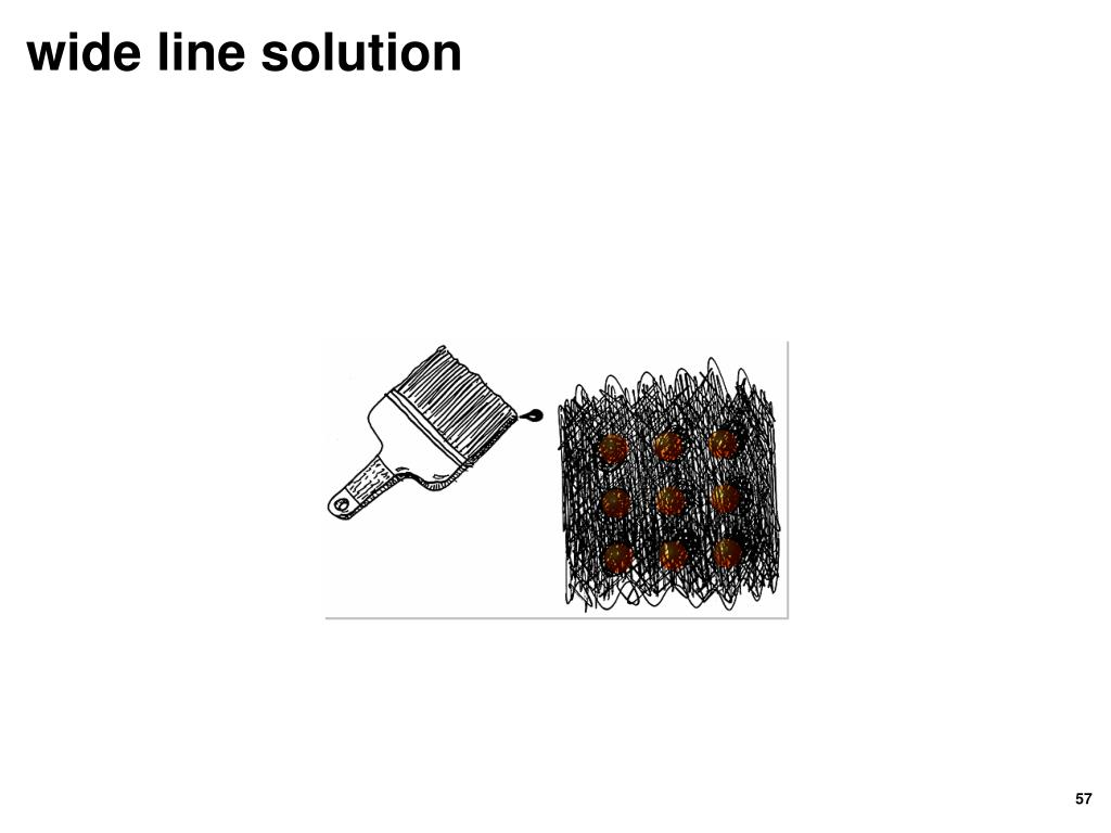 wide line solution