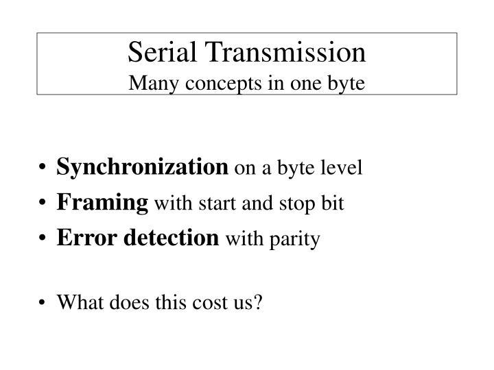 Serial Transmission