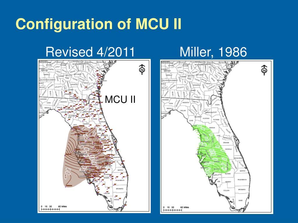 Configuration of MCU II
