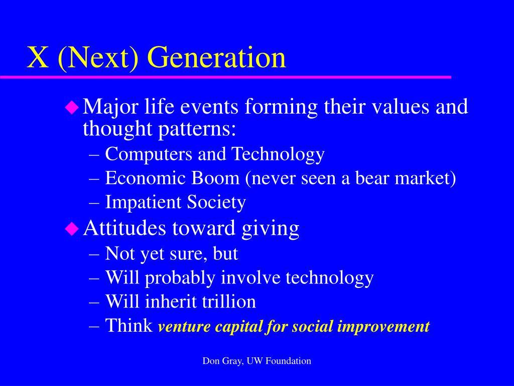 X (Next) Generation