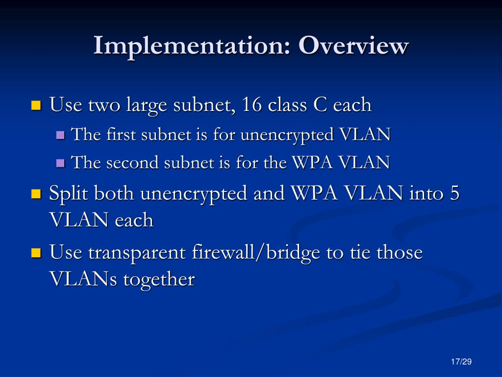 Implementation: Overview