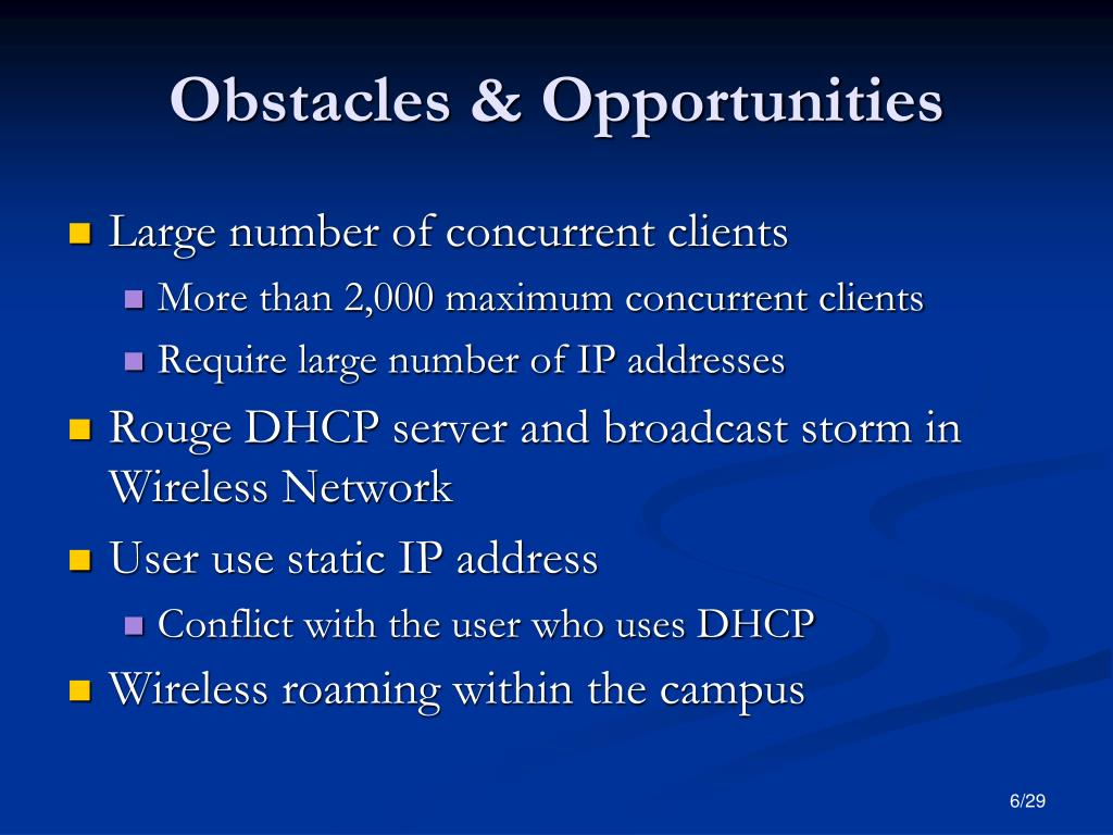 Obstacles & Opportunities