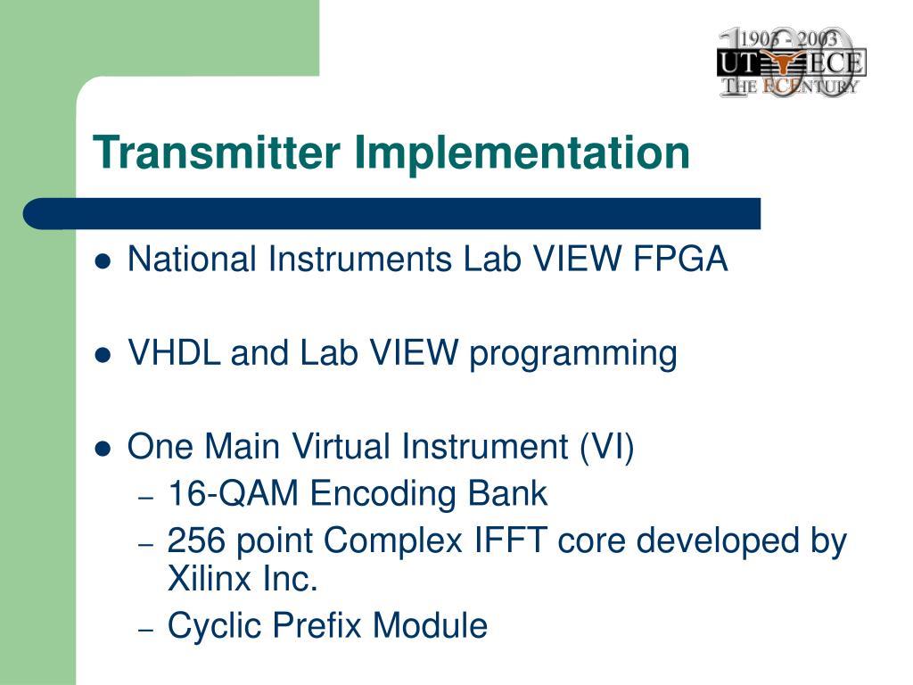 Transmitter Implementation