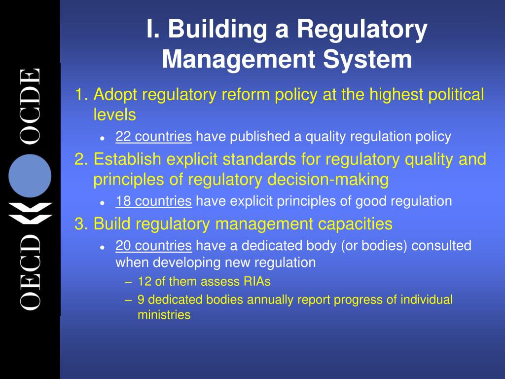 I. Building a Regulatory Management System
