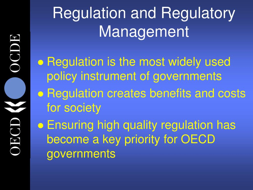 Regulation and Regulatory Management