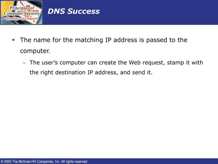 DNS Success