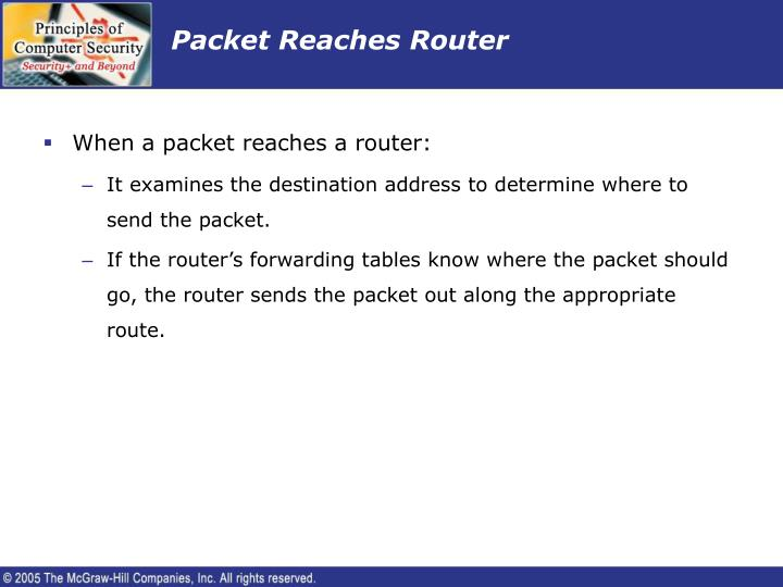 Packet Reaches Router