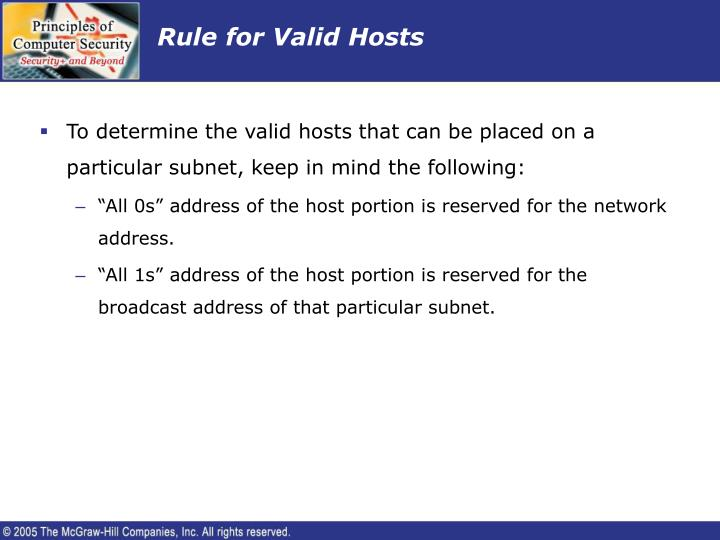 Rule for Valid Hosts